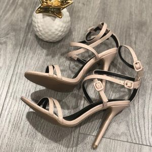 Crisscross Strappy Patent Sandals